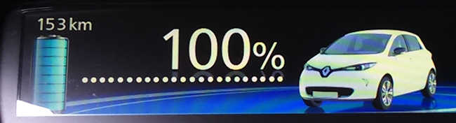 153km bei 100% SOC