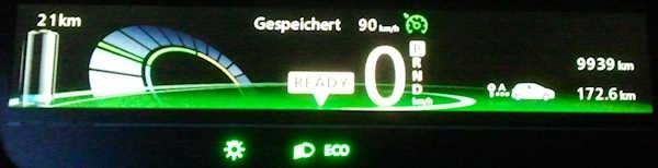 Display ZOE Ankunft Benthe