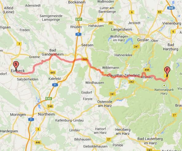 Strecke Einbeck-Torfhaus