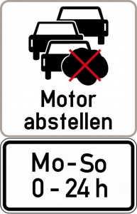 Motor abstellen Mo-So 0-24h