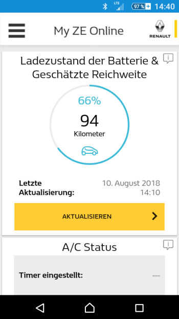 Screenshot ZE App