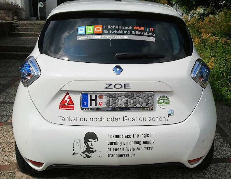 ZOE mit Spock-Sticker