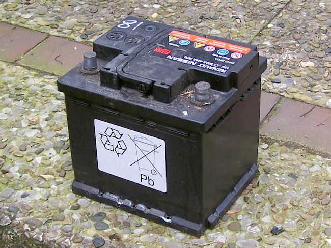 alte Batterie ausgebaut