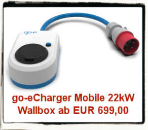 go-eCharger 22kW mobile Ladestation/Wallbox