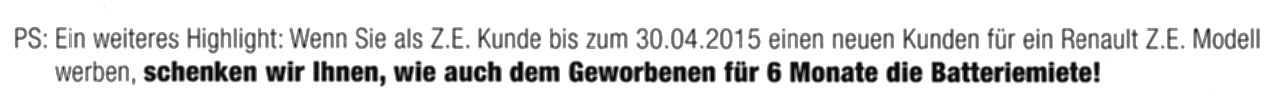 PS Renault Werbeanschreiben